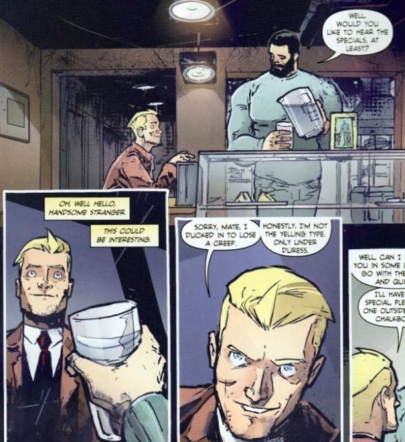 John Constantine getting flirty via io9