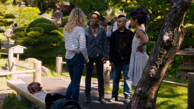 """The dialogue in this scene is literally """"She said no problem using her back entrance."""""""