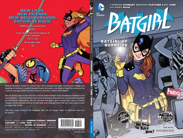The new Batgirl of Burnside collected edition with changes made to issue #37.