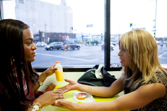 Mya Taylor and Kitana Kiki Rodriguez in TANGERINE, a Magnolia Pictures release. Photo courtesy of Magnolia Pictures.