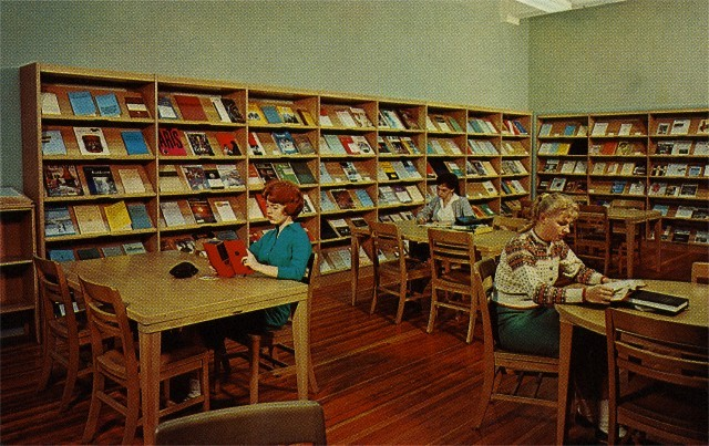 Periodical Reading Room of the Fifties --- Image by © Found Image Press/Corbis