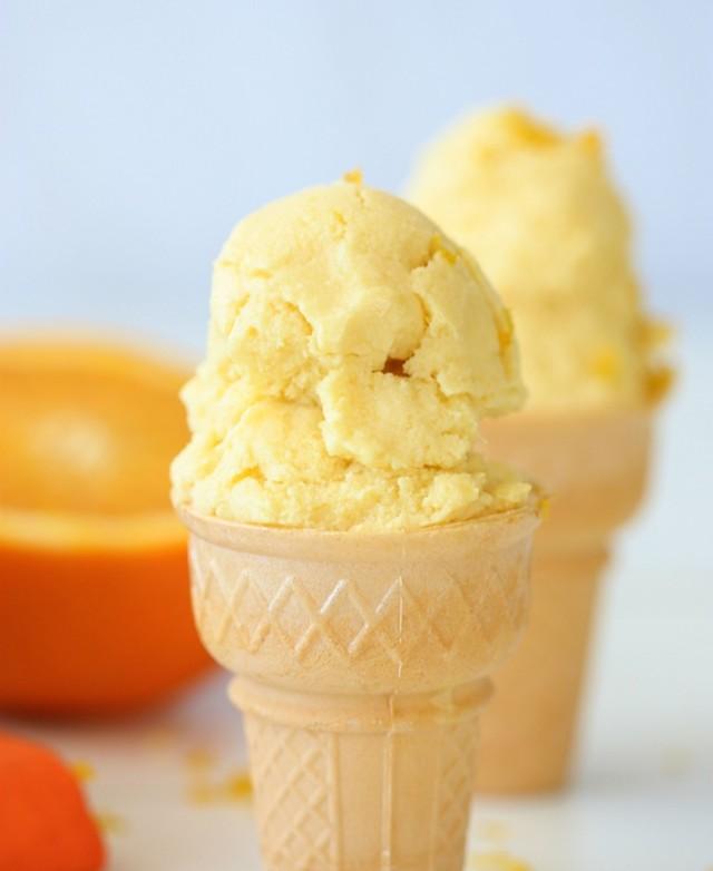 Homemade Orange Creamsicle Ice Cream Recipe