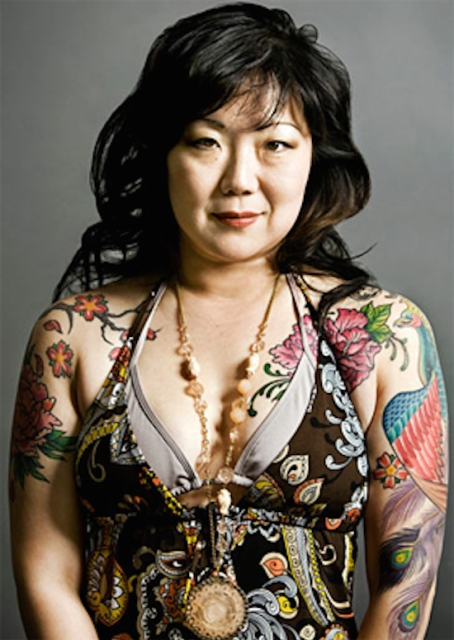 46-year-old comedian and general babe, Margaret Cho, is happy to see you in her floral print strappy halter top.