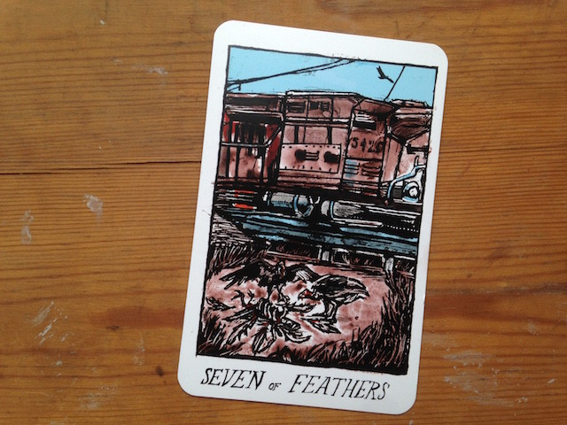 Seven of Feathers, from The Collective Tarot