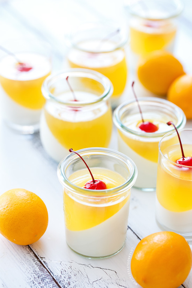Sparkling Meyer Lemon & Passionfruit Panna Cotta