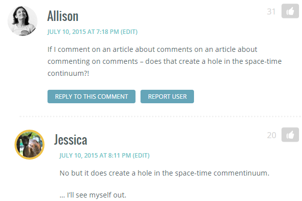 alice and jessica comment