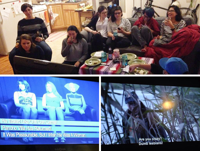 Just some queermos in my living room watching some quality Netflix. (Professional photography and screencaps by Laura W and Gabby respectively.)