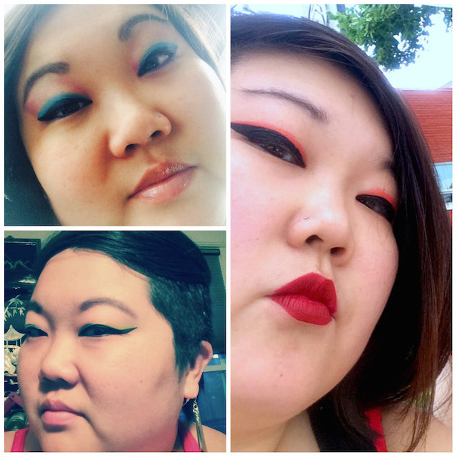 Contributing editor, KaeLyn Rich, feels like she's 32 with these bright, bold summer eye looks.
