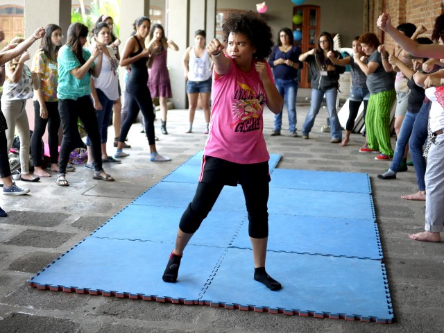 Colocha Estrada teaches feminist self-defense around Central America.