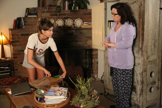 """THE FOSTERS - """"Daughters"""" - Callie is surprised to find that Rita has a biological daughter in an all-new episode of """"The Fosters,"""" airing Monday, August 3, 2015 at 8:00PM ET/PT on ABC Family. (ABC Family/Adam Taylor) MAIA MITCHELL, ROSIE O'DONNELL"""