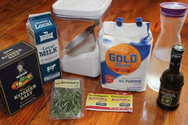 rosemary focaccia ingredients