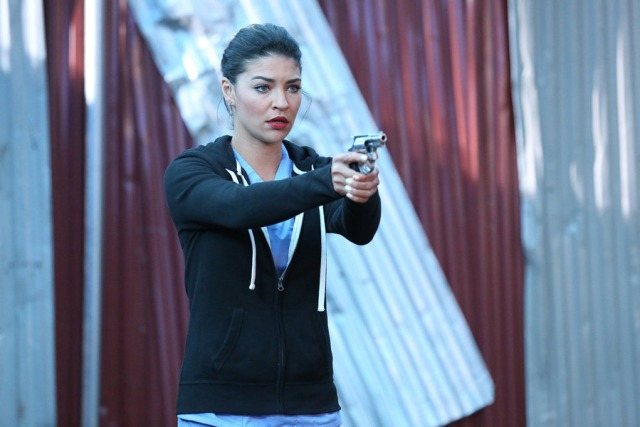 """COMPLICATIONS -- """"Relapse"""" Episode 107 -- Pictured: Jessica Szohr as Gretchen Polk -- (Photo by: Quantrell Colbert/USA Network)"""