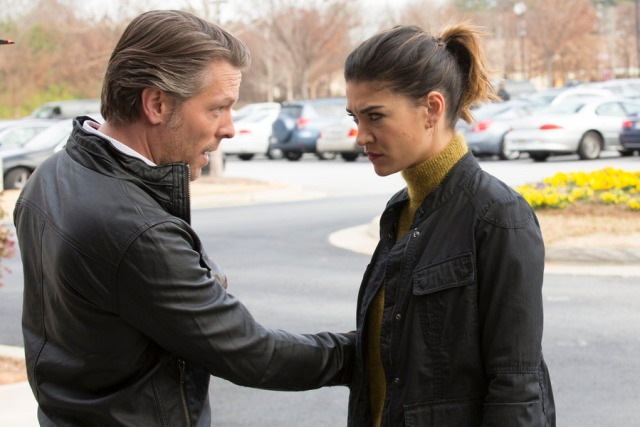 """COMPLICATIONS -- """"Critical Condition"""" Episode 109 -- Pictured: (l-r) Miles Doleac as Dr. Ian Blair, Jessica Szohr as Gretchen Polk -- (Photo by: Bob Mahoney/USA Network)"""