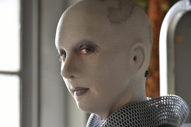 "DEFIANCE -- ""Ostinato in White"" Episode 309 -- Pictured: Trenna Keating as Doc Yewll -- (Photo by: Ben Mark Holzberg/Syfy)"
