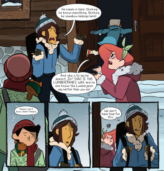 From Lumberjanes #17, art by Brooke A. Allen
