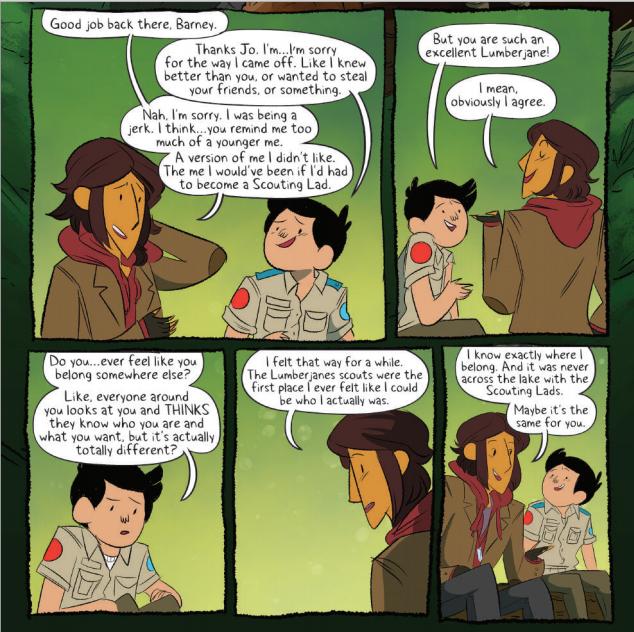 From Lumberjanes #17, art by Brooke A. Allen.