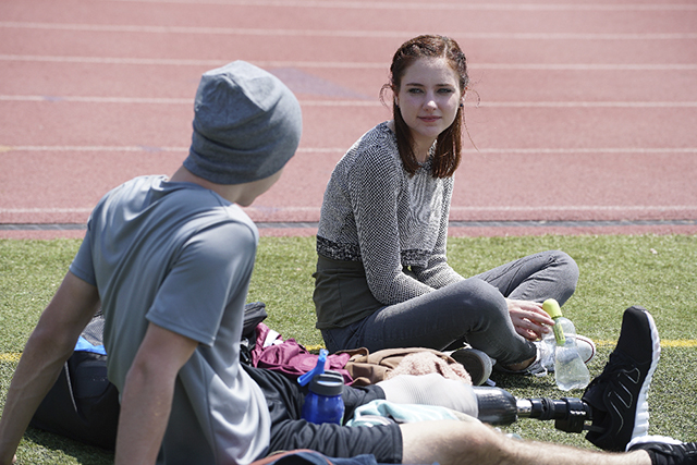 "CHASING LIFE - ""The Ghost In You"" - Leo's surprise helps April to move on in ""The Ghost In You,"" an all-new episode of ""Chasing Life,"" airing Monday, August 24 at 9:00 p.m. ET/PT on ABC Family. (ABC Family/Eric McCandless) PARKER MACK, HALEY RAMM"