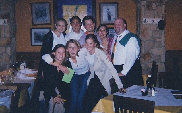 Riese with her work friends at the Macaroni Grill, circa 2003.