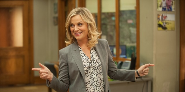 """PARKS AND RECREATION -- """"Galentine's Day"""" Episode 617 -- Pictured: Amy Poehler as Leslie Knope -- (Photo by: Colleen Hayes/NBC/NBCU Photo Bank via Getty Images)"""