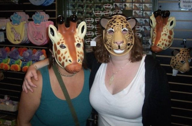 This is us at the zoo circa 2008. Just gal pal'ing around.