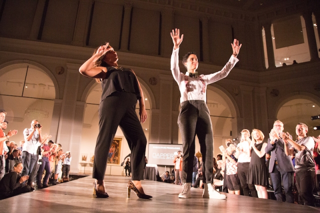 Anita Dolce Vita (left) and Dez Irani (right) take a bow to raucus applause after thursday night's show.