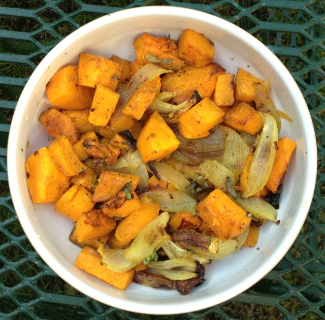 Moroccan Spiced Roasted Butternut Squash With Caramelized Onions