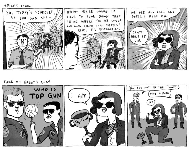 Katherine Sui Fun Cheung, the first Chinese-American woman to receive a commercial flying license in the US. from Step Aside, Pops by Kate Beaton.