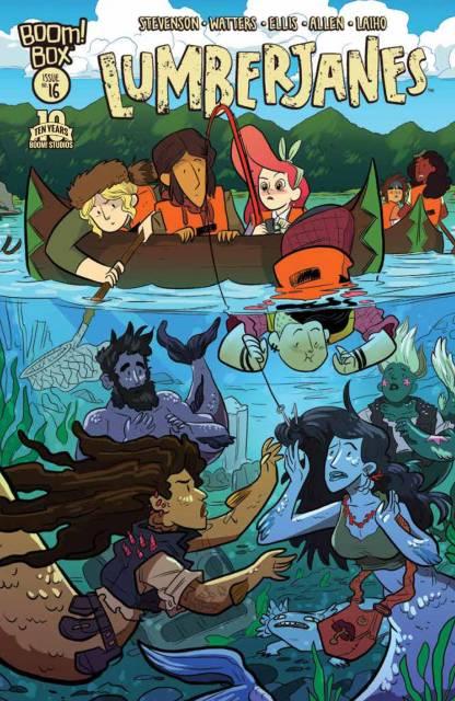 Lumberjanes #16 cover by Brooke A. Allen
