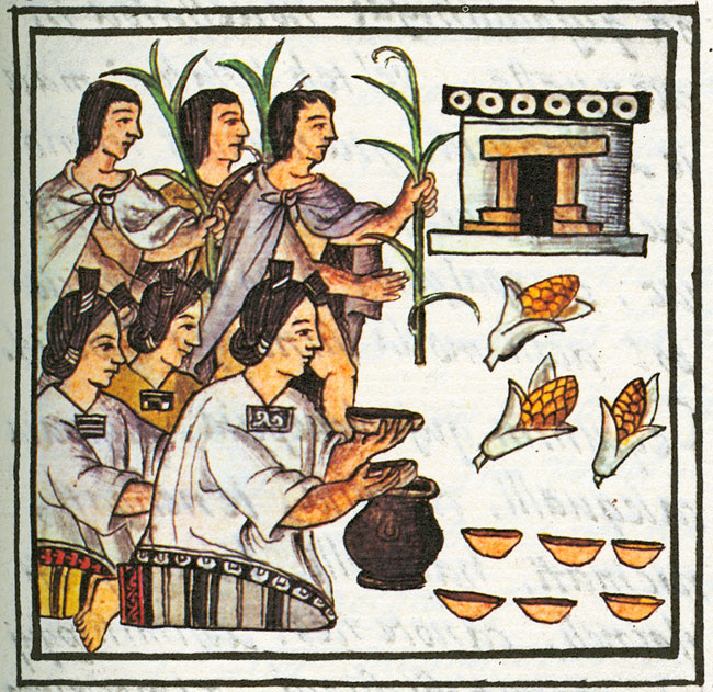 From the Florentine Codex, so Aztecs through the eyes of the colonizer.