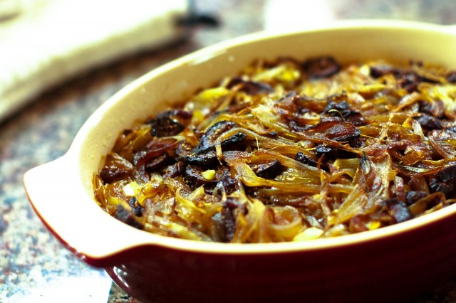 Balsamic Caramelized Onion And Mushroom Loaded Baked ...