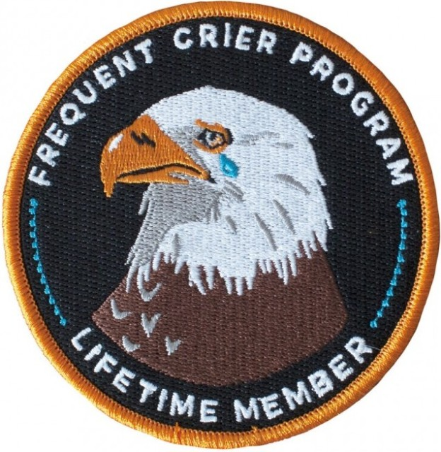 frequent crier program lifetime member patch