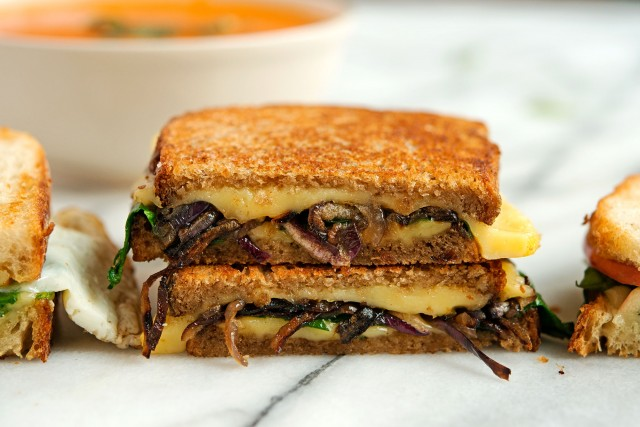 Grilled Cheese And Pear Sandwich With Red Onions And Rosemary Recipes ...