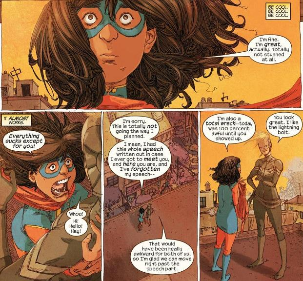 From Ms. Marvel #17 by G. Willow Wilson and Adrian Alphona.