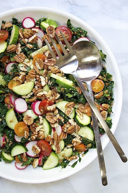 raw-vegetable-and-farro-salad-with-pecans