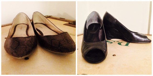 My sensible grown up shoes. (That platform pump isn't as intense as it looks and it's a comfort brand.)