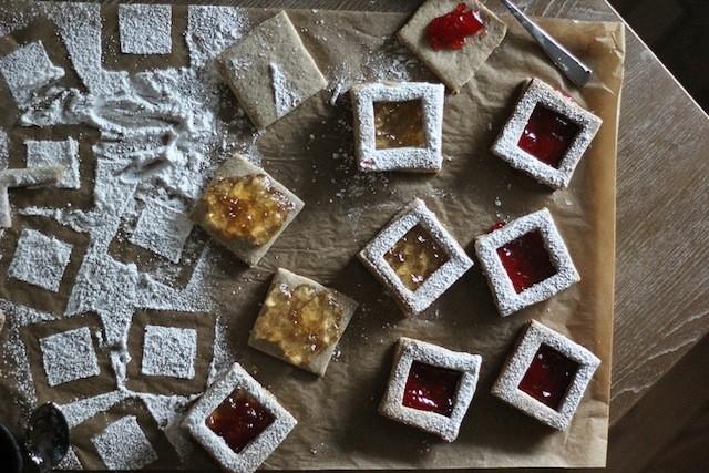 17. Spiced Pecan Linzer Cookies
