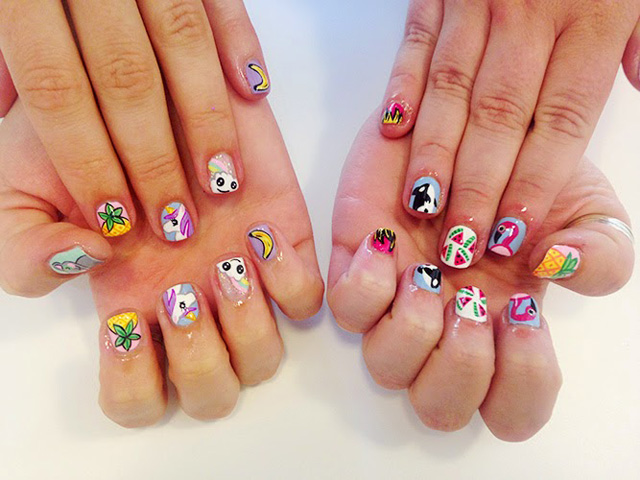 Think of your nails as a potential canvas. Now STOP EATING THE CANVAS. via iwanttobeher.com