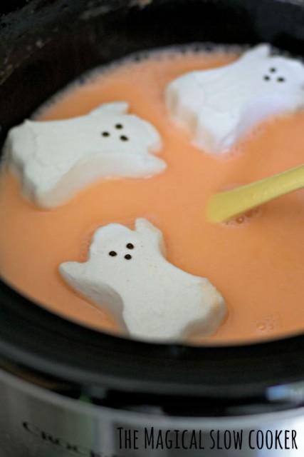 Candy-Corn-Hot-Chocolate-in-pot