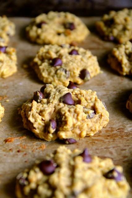 Flourless-Pumpkin-Oatmeal-Cookies