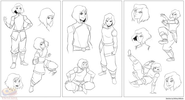 Some of Williams' terrific Korra art via Comic Book Resources.
