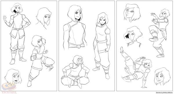 Some of Williams' terrific Korra art via Comic Book Resources.