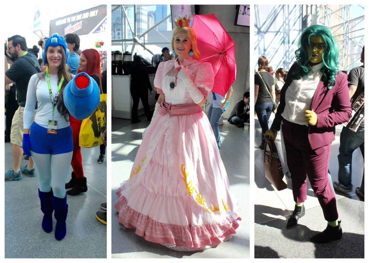Middle: Princess Peach