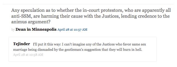 A Q&A on the SCOTUSblog liveblog during the oral arguments.
