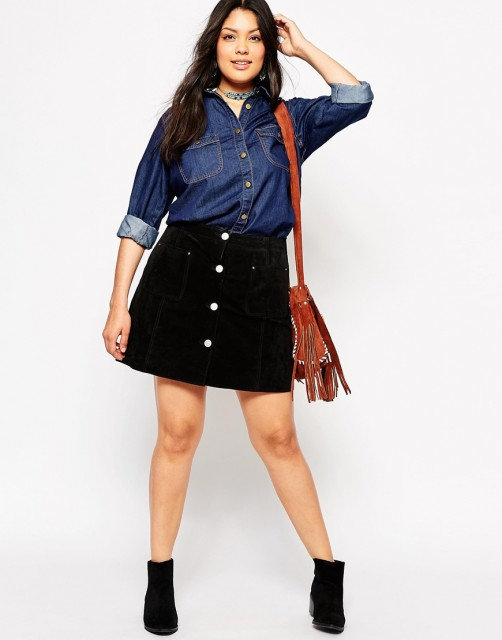 %Alice and You Denim Shirt
