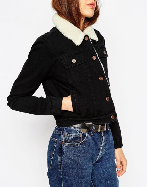 %ASOS Denim Cropped Jacket