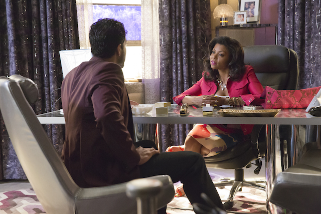 "EMPIRE: L-R: Guest star Adam Rodriguez and Taraji P. Henson in the ""Be True"" episode of EMPIRE airing Wednesday, Oct. 21 (9:00-10:00 PM ET/PT) on FOX. ©2015 Fox Broadcasting Co. Cr: Chuck Hodes/FOX."