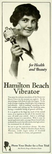 Hamilton Beach Vibrator, 1920, no source.