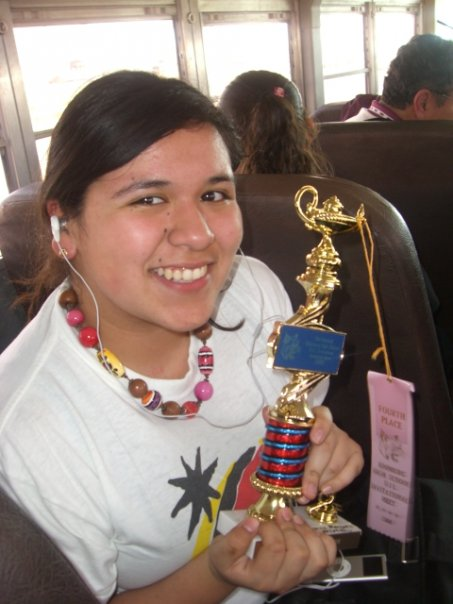 me with a trophy