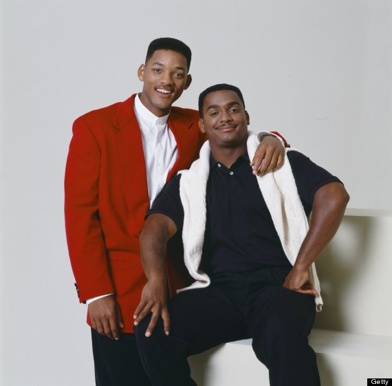 THE FRESH PRINCE OF BEL-AIR -- Season 5 -- Pictured: (l-r) Will Smith as William 'Will' Smith, Alfonso Ribeiro as Carlton Banks -- Photo by: Gary Null/NBCU Photo Bank