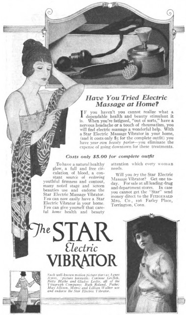 The Star Electric Vibrator, Cosmo, October 1919.